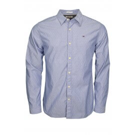 Chemise rayée Tommy Hilfiger Dobby bleu marine pour homme