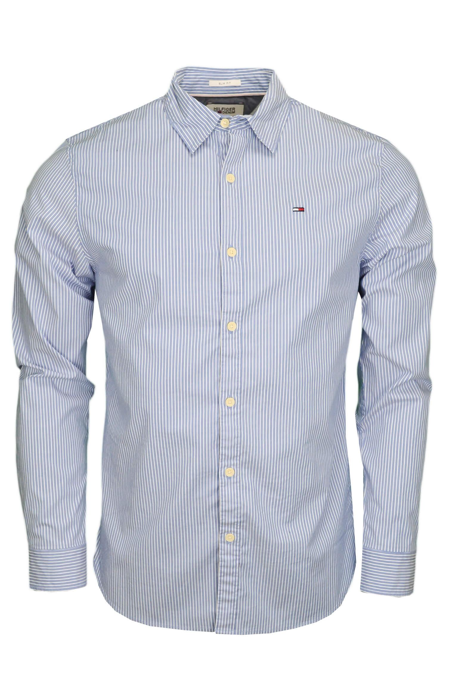 Chemise rayée Tommy Hilfiger bleu et blanche