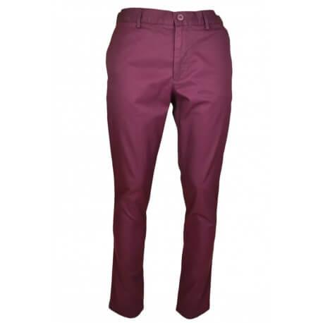 Pantalon chino Lacoste rouge bordeaux pour homme