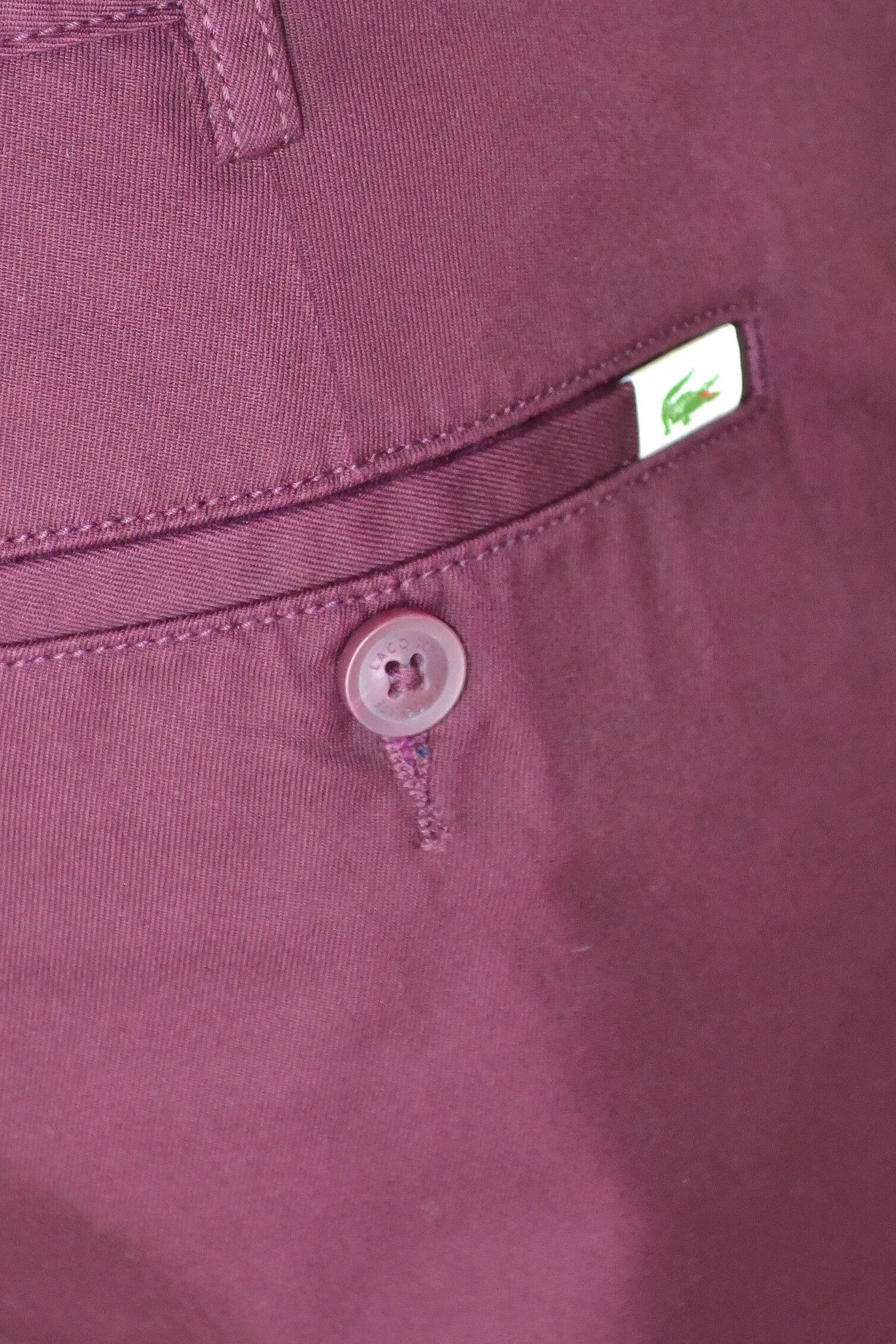 Lacoste Homme Pour Bordeaux Meil Rouge Au Chino Pantalon Toujours A7Pfz5w