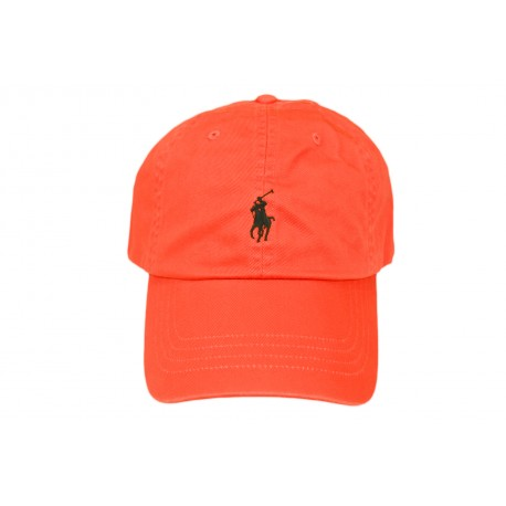 Casquette Ralph Lauren orange mixte