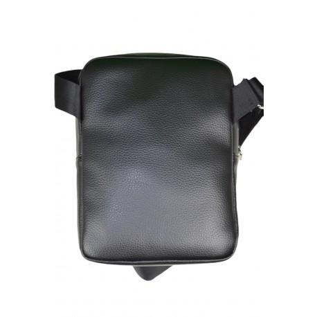 Sacoche bandoulière Lacoste noire pour homme