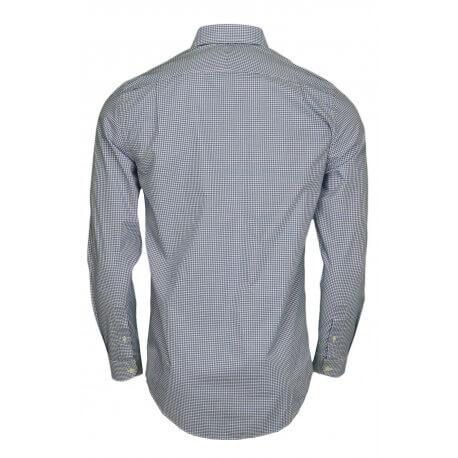 Chemise vichy Lacoste bleu pour homme
