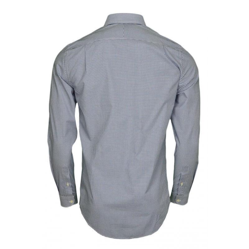 chemise vichy lacoste bleu pour homme toujours au. Black Bedroom Furniture Sets. Home Design Ideas