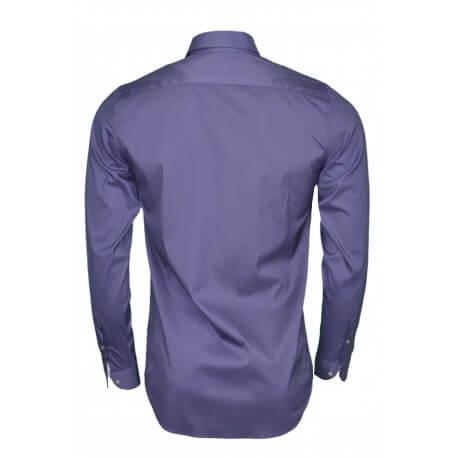 Chemise basique slim fit Lacoste bleu marine pour homme