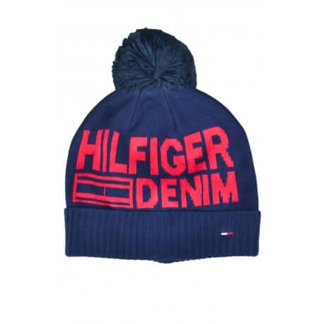 Bonnet Tommy Hilfiger bleu marine pour homme
