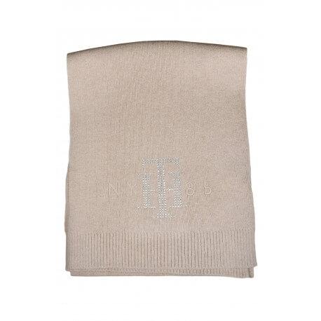 Echarpe Tommy Hilfiger strass beige pour femme