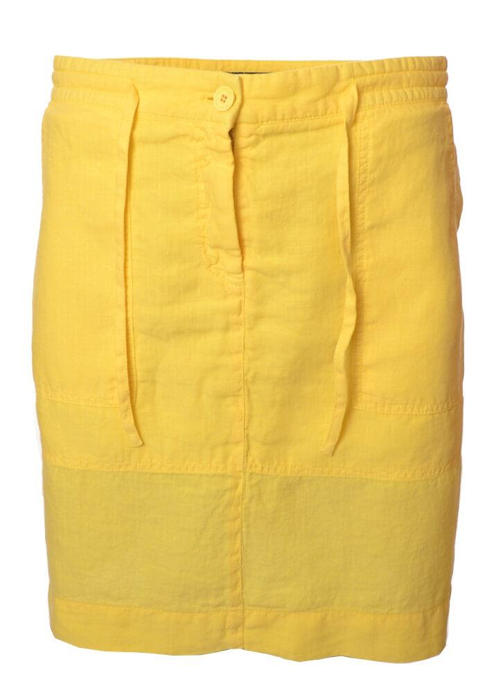 jupe gant jaune en lin pour femme toujours au meilleur prix. Black Bedroom Furniture Sets. Home Design Ideas