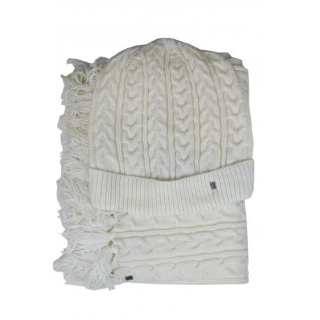 Coffret bonnet et écharpe Tommy Hilfiger blanc pour femme