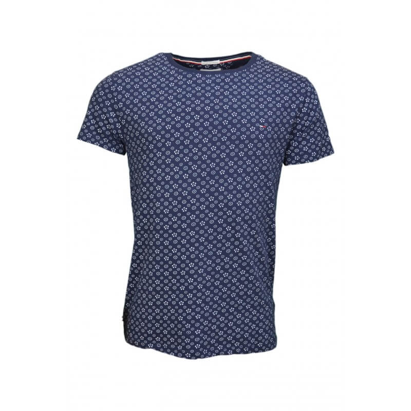 t shirt imprim tommy hilfiger bleu marine motif fleur pour homme. Black Bedroom Furniture Sets. Home Design Ideas