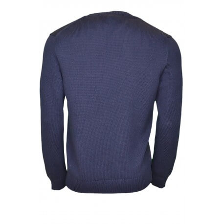 Pull col rond en coton Ralph Lauren bleu marine pour homme