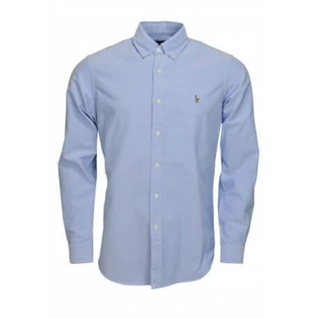 Chemise oxford basique Ralph Lauren bleue pour homme
