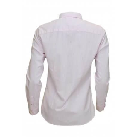 Chemise rayée oxford Tommy Hilfiger Sithaca rose et blanche pour femme