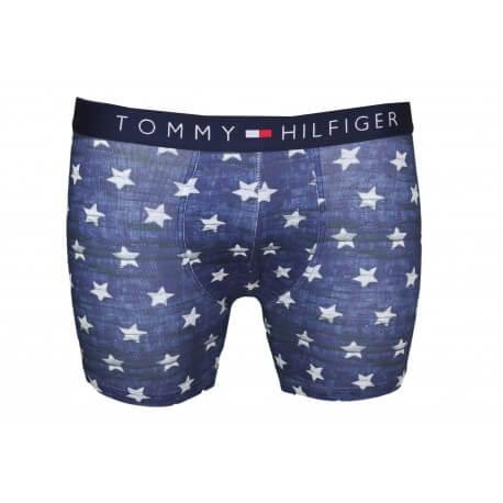 Boxer long Tommy Hilfiger bleu motif étoile pour homme