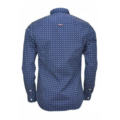 Chemise Tommy Hilfiger bleu marine à motif fleur pour homme