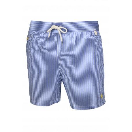 Short de bain rayé Ralph Lauren bleu pour homme