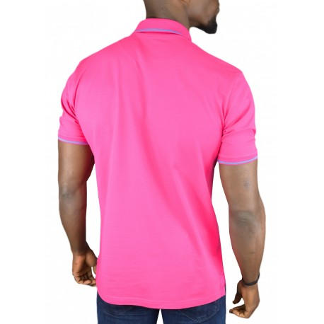 Polo Aristow Big A rouge hibiscus pour homme
