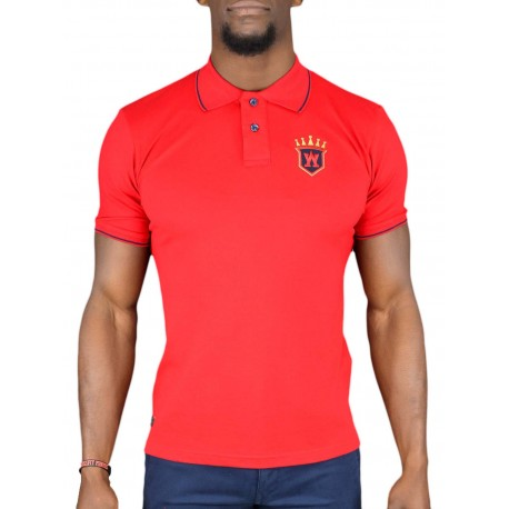 Polo Aristow Big A rouge pour homme