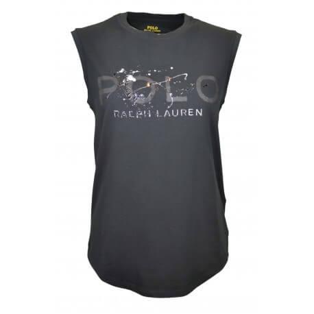 T-shirt sans manches Ralph Lauren noir pour femme