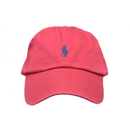 Casquette Ralph Lauren rouge bordeaux mixte
