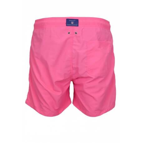 Short de bain Gant rose pour homme