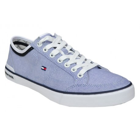 Baskets en toile Tommy Hilfiger chambray pour homme