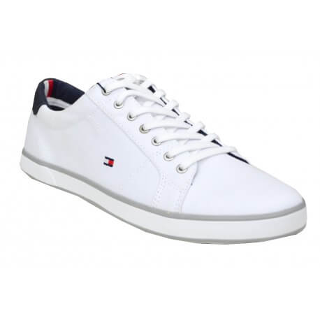 Baskets en toile Tommy Hilfiger Harlow blanche pour homme