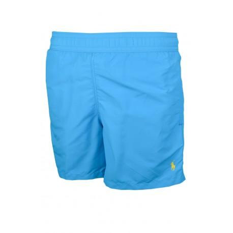 Short de bain Ralph Lauren Hawaïen bleu turquoise pour homme