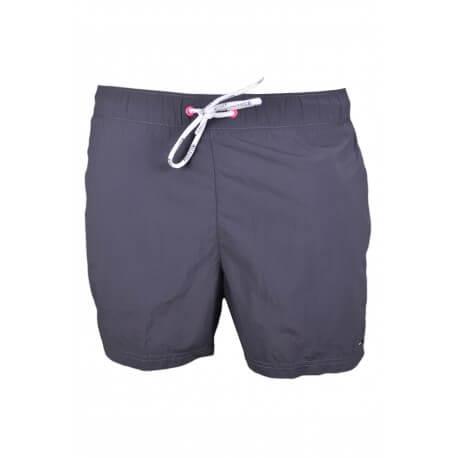 Short de bain Tommy Hilfiger Basic Solid gris uni pour homme