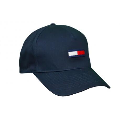 Casquette base-ball Tommy Hilfiger Dénim Big Flag bleu marine pour homme