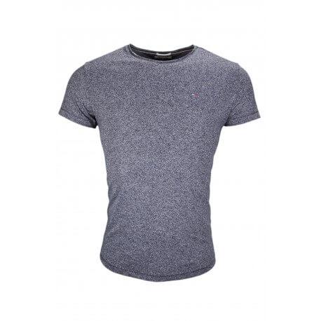 T-shirt col rond Tommy Hilfiger basique noir irisé pour homme
