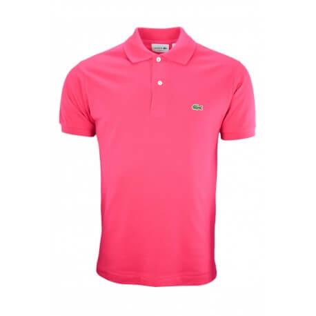 Polo basique L1212 Lacoste rose pour homme