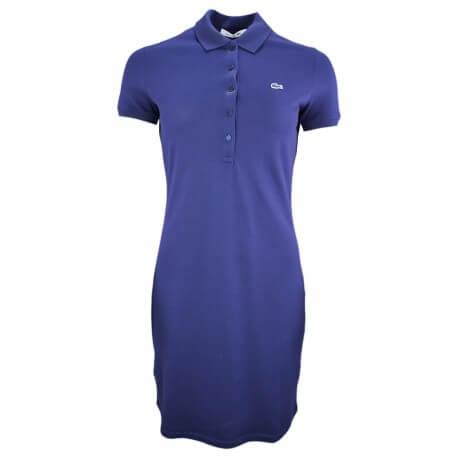 Robe polo en piqué Lacoste bleu marine pour femme