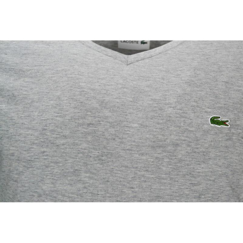 Au En Homme Pour T Shirt Col Gris Lacoste Jersey Toujours Meil V 6Ygyfb7