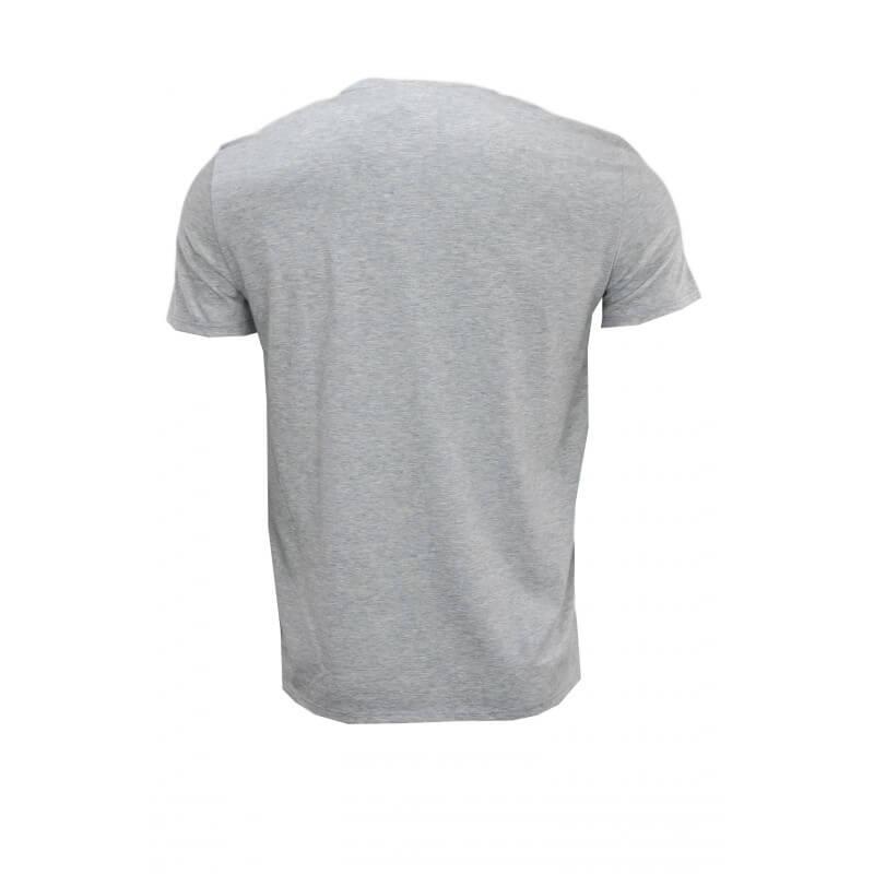 t shirt col v lacoste gris en jersey pour homme toujours. Black Bedroom Furniture Sets. Home Design Ideas