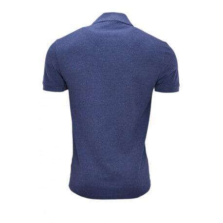 Polo Lacoste bleu marine vieilli pour homme