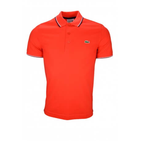 Polo Lacoste rouge pour homme