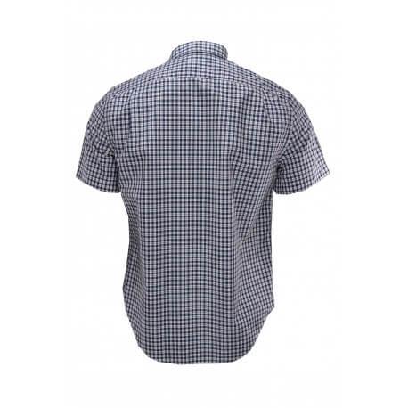 Chemise manches courtes Lacoste à carreaux slim fit pour homme