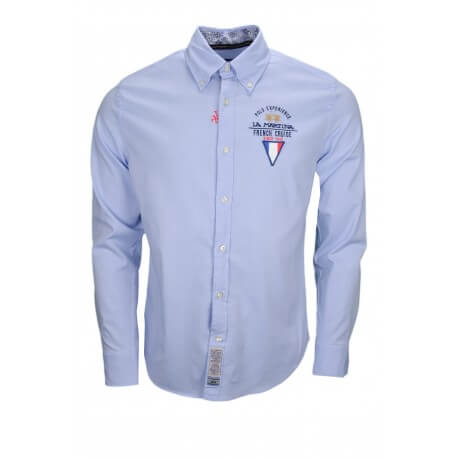 Chemise La Martine French Cruise bleue pour homme