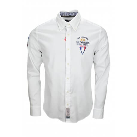 Chemise La Martina French Cruise blanche pour homme