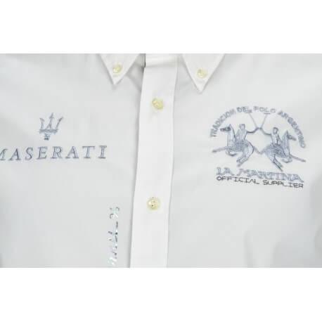 Chemise La Martina Maserati blanche pour homme