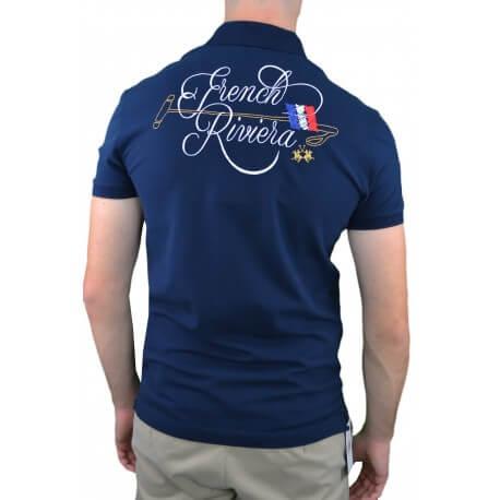 Polo La Martina French Cruise bleu marine pour homme