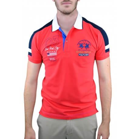 Polo La Martina New York City rouge pour homme