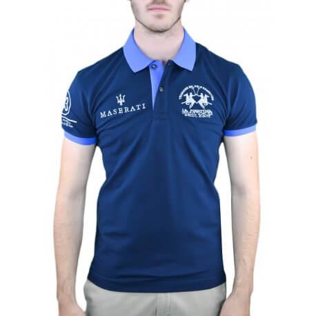 Polo La Martina Maserati bleu marine pour homme