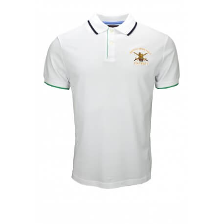 Polo Hackett British Army blanc pour homme