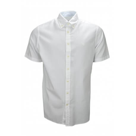 chemise manches courtes hackett blanche classic fit pour. Black Bedroom Furniture Sets. Home Design Ideas