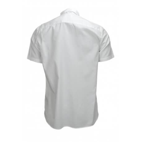 Chemise manches courtes Hackett blanche classic fit pour homme