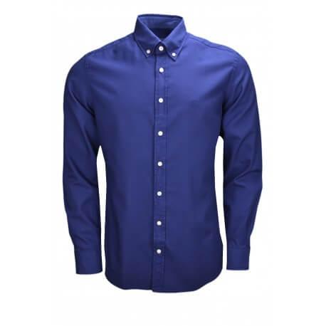Chemise manches longues Hackett bleu marine pour homme