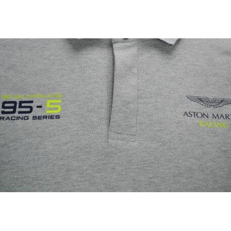 Polo Hackett Aston Martin 95 gris pour homme