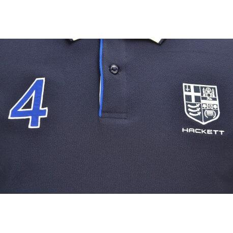 Polo Hackett Aviron bleu marine pour homme